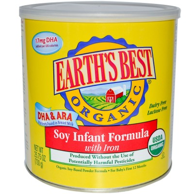 Earth's Best Infant Organic Milk-Based Powder Formula with Iron – 25.75 oz -