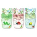 Green Sprouts Waterproof Bibs – Garden Print – 3 Pack