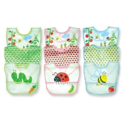Green Sprouts Waterproof Bibs – Garden Print – 3 Pack