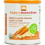 Happy Baby Happy Munchies Baked Organic Snacks – Cheddar Cheese with Carrots